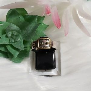 Coach Silver Buckle Ring in Sterling Silver Size 6